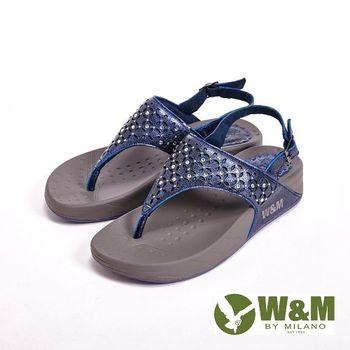 W&M 簍空雕花夾腳涼鞋 女鞋-深藍(另有銀)