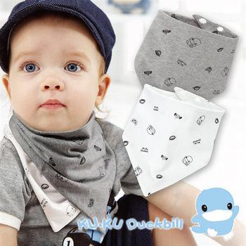 KU.KU酷咕鴨 嗶嗶猴雙面三角領巾 (2240)-口水巾