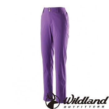 【荒野wildland】女彈性抗UV直筒長褲 紫羅蘭 (0A21339-29)