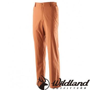 【荒野wildland】男彈性抗UV長褲 紅棕色 (0A21338-97)