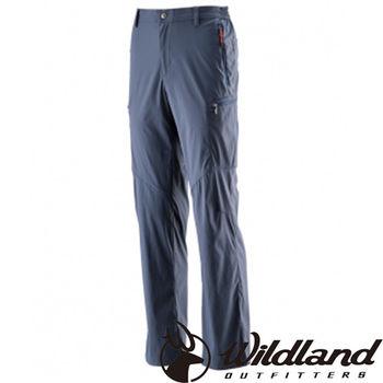【荒野wildland】男彈性抗UV長褲 藍灰色 (0A21336-51)