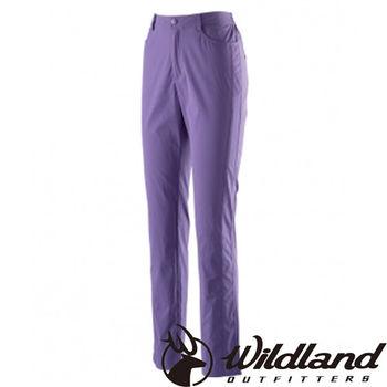 【荒野wildland】女彈性合身抗UV長褲 紫羅蘭 (0A21333-29)