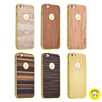 【Dido shop】iPhone 6 Plus / 6S Plus 元素木紋+金屬保護框 手機保護殼 手機殼 手機框 (XN316)