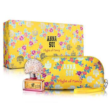 【Anna Sui 安娜蘇】逐夢翎雀風采禮盒-淡香水30ml+手拿包(附紙袋)