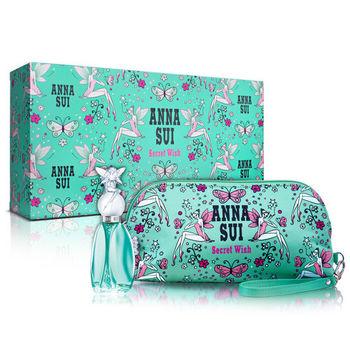 【Anna Sui 安娜蘇】許願精靈風采禮盒-淡香水30ml+手拿包(附紙袋)