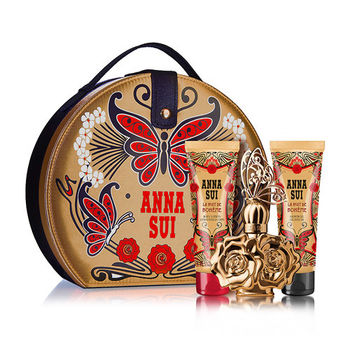 【Anna Sui 安娜蘇】波希女神甜蜜假期禮盒-香水50ml+身體乳+沐浴精(附紙袋)