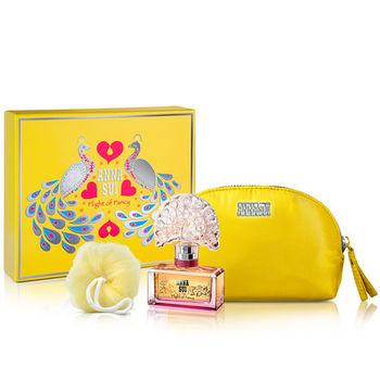 【Anna Sui 安娜蘇】逐夢翎雀彩漾禮盒-淡香水30ml+化妝包(附紙袋)