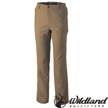 【荒野wildland】男日本紗彈性抗UV長褲 黃卡其 (0A31306-62)