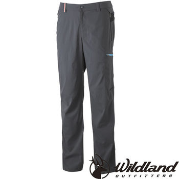 【荒野wildland】男彈性腰頭鬆緊帶長褲 深灰色 (0A31302-93)