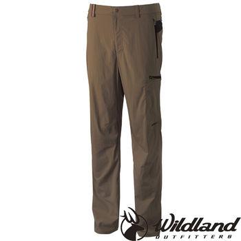 【荒野wildland】男彈性腰頭鬆緊帶長褲 卡其色 (0A31302-82)
