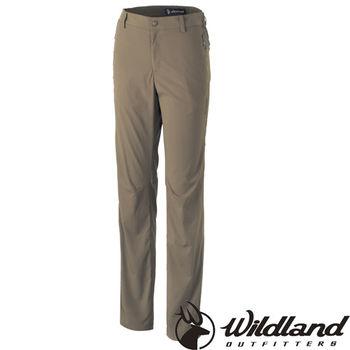【荒野wildland】女彈性抗UV長褲 黃卡其 (0A31301-62)