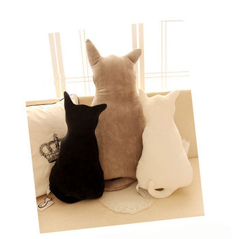 【買達人】超療癒系貓咪背影抱靠枕-70cm(買大送小)