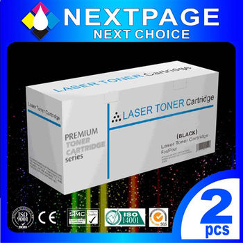 【NEXTPAGE】HP CF283A/283A/83A 黑色相容碳粉匣 (For HP LaserJet Pro MFP M127fn/fw/M125A) 2入【台灣榮工】