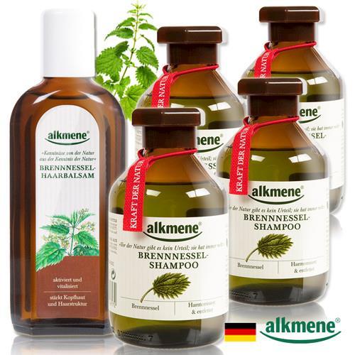 德國Alkmene草本耀典大蕁麻養髮洗髮露育毛4+1超值組