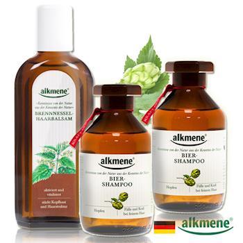 德國Alkmene草本耀典 啤酒花滋養洗髮育毛2+1超值組