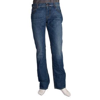 McQueen 復古刺繡 Q 圖騰牛仔褲(男)