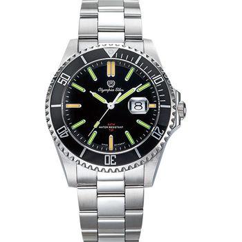 Olympia Star 奧林比亞之星-都會菁英潛水氚氣石英腕錶 89983TGS
