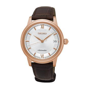 SEIKO 精工 PRESAGE 奢華時尚女用機械腕錶-34mm/4R35-01B0P(SRP858J1)