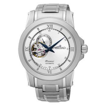 SEIKO 精工 Premier 開芯系列羅馬時標機械腕錶41mm/4R39-00P0S(SSA319J1)