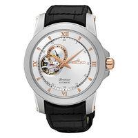 SEIKO 精工 Premier 開心系列羅馬世紀機械皮帶腕錶 ^#47 41mm ^#4