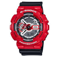 CASIO G ^#45 SHOCK 紅黑喜洋洋雙顯多 錶 ^#45 GA ^#45 11