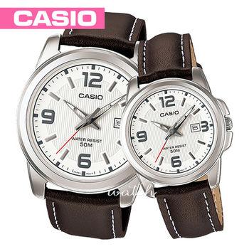 【CASIO 卡西歐】日系-浪漫情人對錶(MTP-1314L-7A+LTP-1314L-7A)