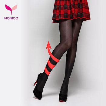 【Nonica諾妮卡】美膚時尚 時尚愛美保暖假透膚褲襪-雙層(買5送1)
