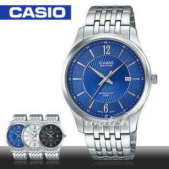 【CASIO 卡西歐 BESIDE 系列】簡約不鏽鋼石英男錶(BEM-151D)