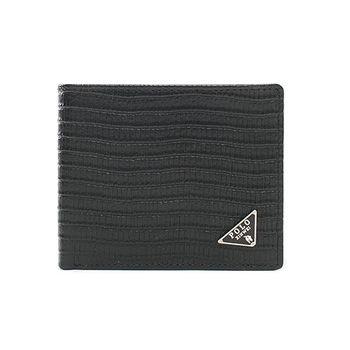 XINWEI POLO 英式設計波浪紋短夾