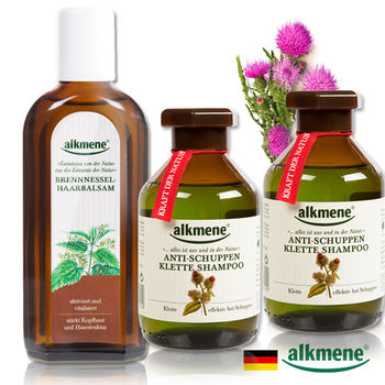 德國Alkmene草本耀典 草本耀典牛蒡去屑洗髮育毛2+1超值組