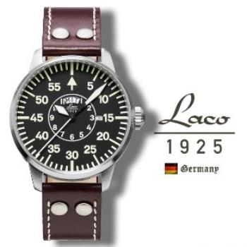 【Laco朗坤】真皮夜光瑞士石英機芯男士錶