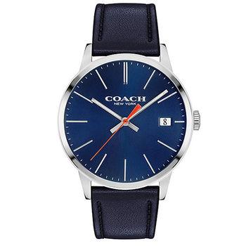 COACH 簡約大三針時尚男用皮帶腕錶-42mm/14602094