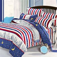 ~R.Q.POLO~新絲柔系列 ^#45 城市夜空 雙人 床包兩用被四件組5X6.2尺