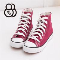 ~88 #37 ~ 百搭 款高筒帆布鞋 #40 酒紅 #41