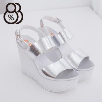 【88%】韓國街頭時尚新款 12CM厚底顯瘦增高好走 楔型涼鞋 夜店 跑趴必備款(銀色)