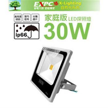 LED 30W 家庭版 探照燈 (白光) 投射燈 投光燈 防水型 EXPC X-LIGHTING