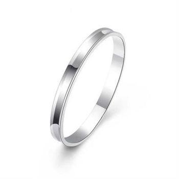 【米蘭精品】925純銀手環手飾韓版簡約素面質感