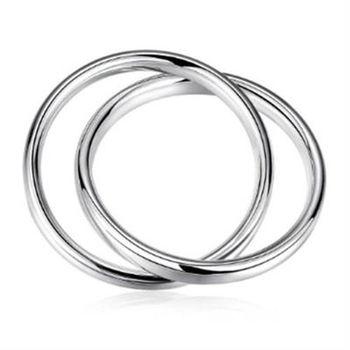【米蘭精品】925純銀手環手飾韓版優質雙圈造型