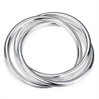 【米蘭精品】925純銀手環手飾韓版獨特三圈造型