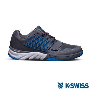 K-Swiss  X Court 全方位運動鞋-女炭灰/藍