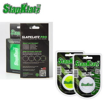 【SlapKlatz 丹麥品牌】爵士鼓/銅鈸 制音凝膠 消音弱音貼 2色可選(14片裝)