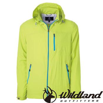 【荒野wildland】男彈性透氣抗UV輕薄外套 芥末黃 (0A31902-40)