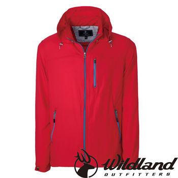 【荒野wildland】男彈性透氣抗UV輕薄外套 紅色 (0A31902-08)
