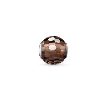 德國Thomas Sabo Karma Beads鑽面烟水晶串飾寶珠(尺寸:1.0cm)K0082-031-2