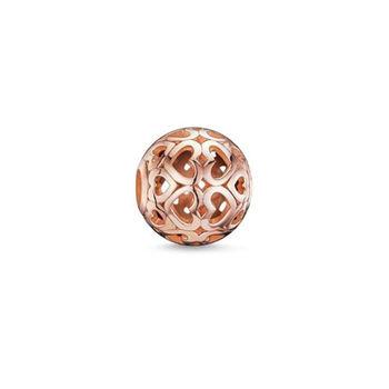 德國Thomas Sabo Karma Beads玫瑰金心形雕花串飾寶珠(尺寸:1.1cm)K0018-415-12