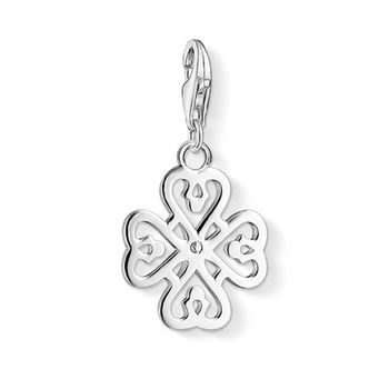 德國Thomas Sabo Charm Club 幸運草銀墜吊飾1323-051-14