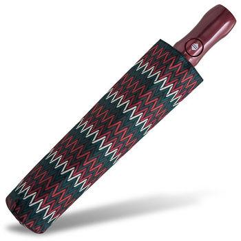 rainstory雨傘-幾何織紋(深紅)抗UV雙人自動傘