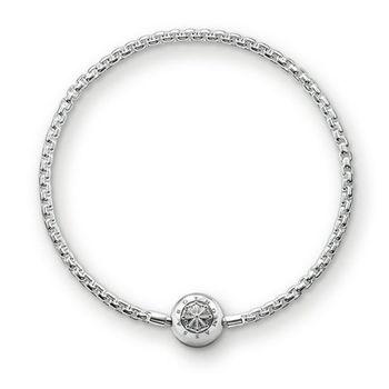 德國Thomas Sabo Karma Beads 925純銀串飾手鍊(寬度:0.3 cm)KA0001-001-12