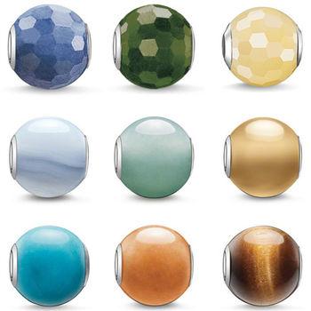 德國Thomas Sabo Karma Beads 基本款串飾寶珠(藍綠黃)(寬度:1.0cm)