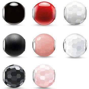 德國Thomas Sabo Karma Beads 基本款串飾寶珠(黑紅白)(寬度:1.0cm)